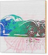 Bugatti Atlantic Watercolor 1 Wood Print