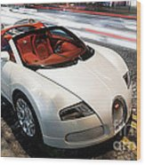 Bugatti Is Art In Motion  Wood Print