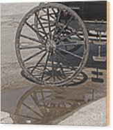 Buggy Wheels Wood Print