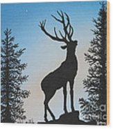 Bugle At Dawn Wood Print