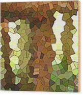 Bugs Eye View Of Garden Table Leg Wood Print