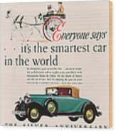 Buick 1928 1920s Usa Cc Cars Horses Wood Print by The Advertising Archives
