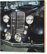 Buick At The Car Show Wood Print