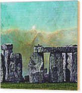 Building A Mystery 2 - Stonehenge Art By Sharon Cummings Wood Print