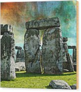 Building A Mystery - Stonehenge Art By Sharon Cummings Wood Print