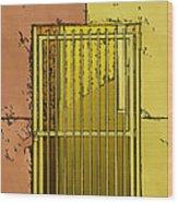 Building Access Denied Wood Print