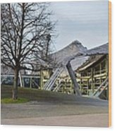 Building At Olympic Village Munich Germany Wood Print