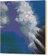 Building Cumulus Abstract Wood Print