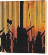 Building Silhouettes In Color Wood Print