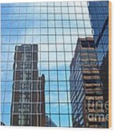 Building With In A Building Wood Print