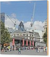 Building Work In The City Of London Wood Print