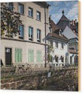 Buildings Along Canal, Altstadt Wood Print