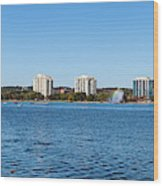 Buildings At The Waterfront, Kempenfelt Wood Print