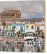 Buildings At The Waterfront, Puerto De Wood Print