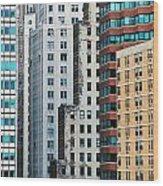 Buildings Wood Print