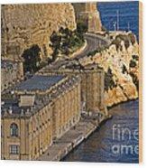 Buildings By The Mediterranean Sea Wood Print