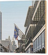 Buildings In A City, Four Points By Wood Print