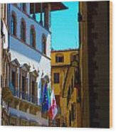 Buildings In Florence Italy Wood Print