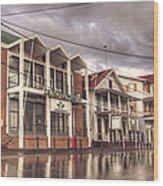 Buildings In Paramaribo Wood Print