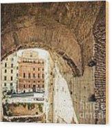 Buildings Of Rome V Wood Print