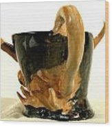 Bull Cup Back View Wood Print by Troy Howard