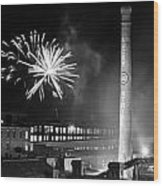 Bull Durham Fireworks Wood Print by Jh Photos