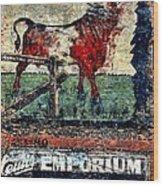 Bull Durham Wood Print