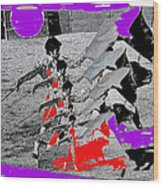 Bull Fight Matador Charging Bull Collage Us-mexico Mexico Border Town Nogales Sonora Mexico   1978-2 Wood Print