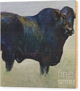 Bull Wood Print by Frances Marino