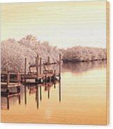 Bull Frog Creek Gibsonton Fl Usa Near Infrared Wood Print