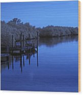 Bull Frog Creek II Gibsonton Fl Usa Near Infrared Wood Print