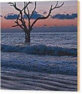 Bull Island Sunrise Wood Print