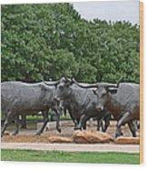 Bull Market Wood Print by Christine Till
