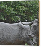 Bull Market Quadriptych 2 Of 4 Wood Print by Christine Till