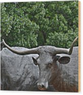 Bull Market Quadriptych 3 Of 4 Wood Print by Christine Till