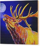 Bull Moon Wood Print