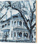 Bull Street House Savannah Ga Wood Print