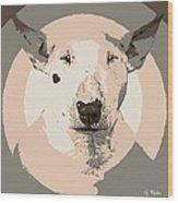 Bull Terrier Graphic 1 Wood Print
