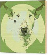 Bull Terrier Graphic 2 Wood Print