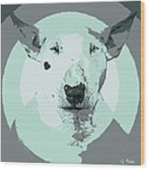 Bull Terrier Graphic 3 Wood Print