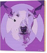 Bull Terrier Graphic 5 Wood Print