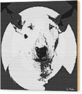 Bull Terrier Graphic 6 Wood Print
