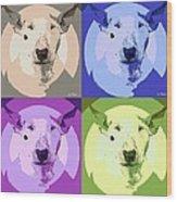 Bull Terrier Pop Art Wood Print