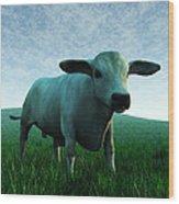 Bull... Wood Print