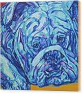 Bulldog Blues Wood Print