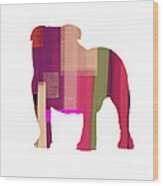 Bulldog Wood Print by Naxart Studio