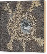 Bullet Hole Wood Print