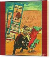 Bullfight Poster Wood Print