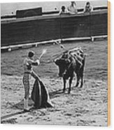 Bullfighter And The Lady Homage 1951 Bullfight Nogales Sonora Mexico Wood Print
