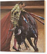 Bullfighter Wood Print